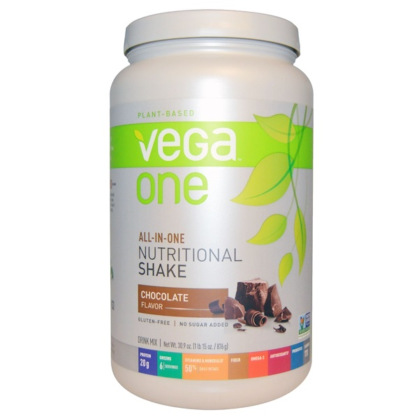 Vega, Vega One, All-In-One Nutritional Shake, Chocolate, 30.9 oz (876 g) (Discontinued Item)