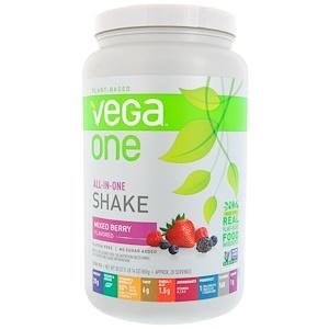 Вега, Vega One, All-In-One Shake, Mixed Berry, 30 oz (850 g) отзывы покупателей