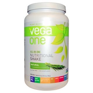 """Vega, Vega One, питательный коктейль """"все-в-одном"""", натуральный, 30,4 унций (862 г)"""