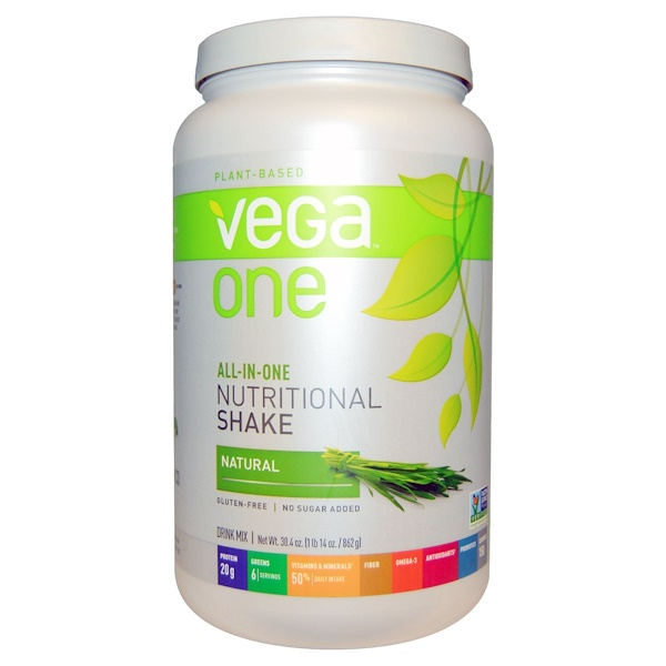 Vega, Vega One, All-In-One Nutritional Shake, Natural, 30.4 oz (862 g)