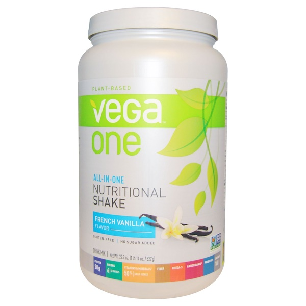 Vega, Vega One, All-In-One Nutritional Shake, French Vanilla Flavor, 29.2 oz (827 g) (Discontinued Item)