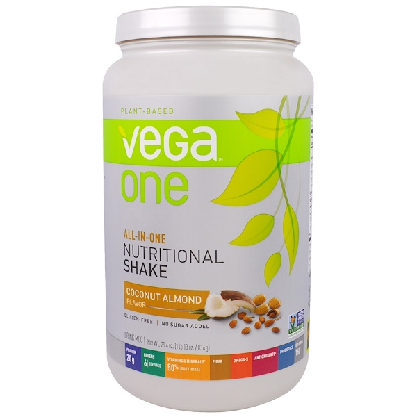 Vega, Vega One, All-In-One Nutritional Shake, Coconut Almond, 29.4 oz (834 g)