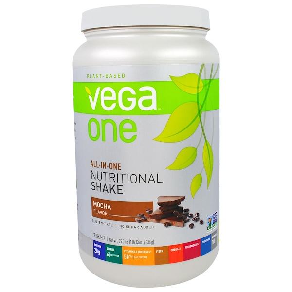 Vega, Vega One, All-In-One Nutritional Shake, Mocha, 29.5 oz (836 g) (Discontinued Item)