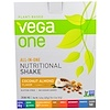 Vega, All-In-One, Nutritional Shake, Coconut Almond, 10 Packets, 1.5 oz (42 g) Each
