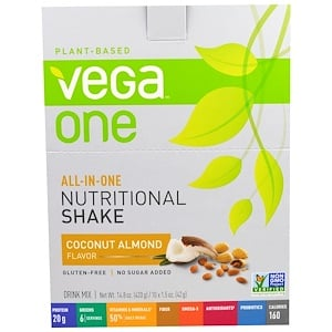 Вега, All-In-One, Nutritional Shake, Coconut Almond, 10 Packets, 1.5 oz (42 g) Each отзывы