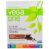 Vega, Vega One Shake, Mocha, 10 Packets, 1.5 oz (42 g) Each
