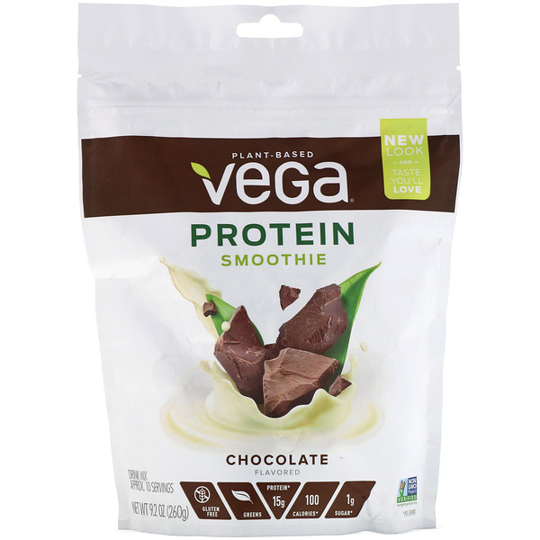 Vega, Protein Smoothie, Chocolate Flavored, 9.2 oz (260 g)