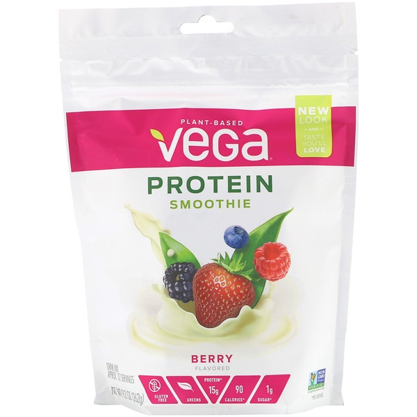 Vega, Protein Smoothie, Berry, 9.2 oz (262 g) (Discontinued Item)