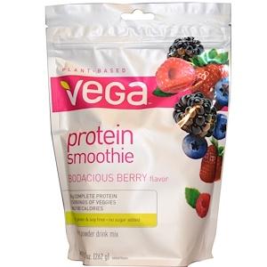 Vega, Белковый смузи, наглая ягода, 9,2 унции (262 г)