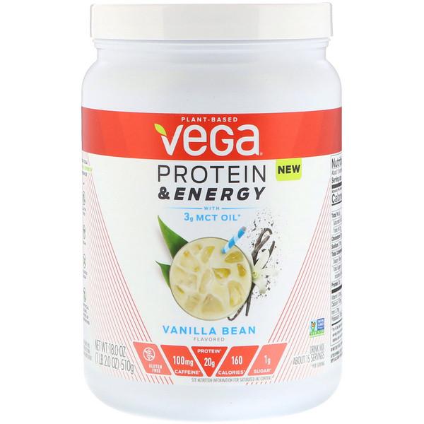 Protein & Energy, Vanilla Bean, 1.1 lbs (510 g)