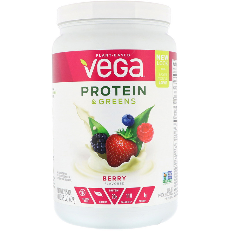 Protein & Greens, Berry Flavored, 1.34 lbs (609 g)
