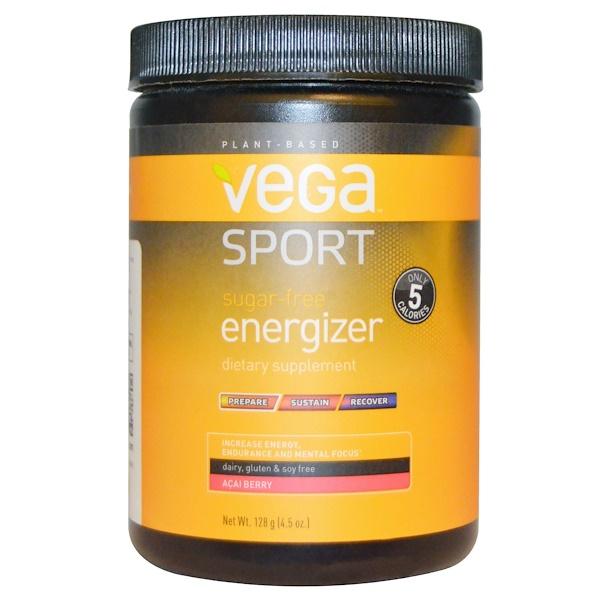 Vega, 運動,無糖增能劑,阿薩伊漿果,4、5 盎司 (128 克)