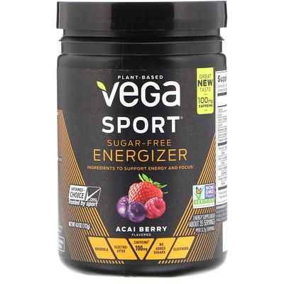Vega Sport, Sugar-Free Energizer, Acai Berry, 4.0 oz (112 g)