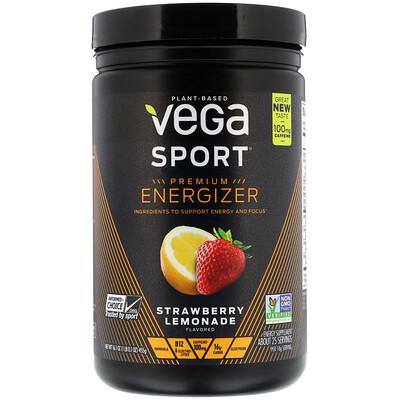 Vega Sport, Premium Energizer, Strawberry Lemonade, 16.1 oz (455 g)