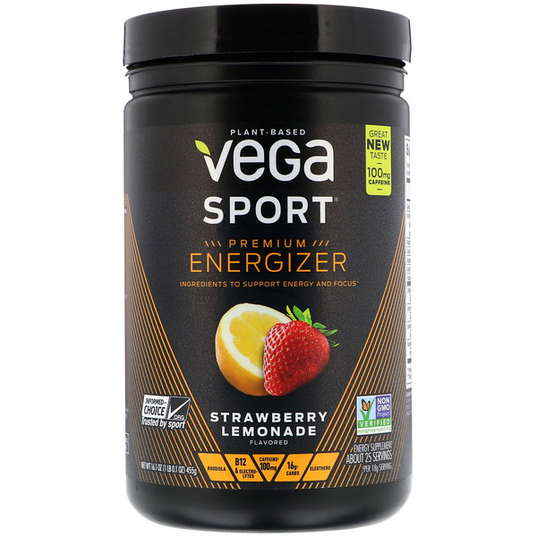 Vega, Sport, Energizer, Strawberry Lemonade, 16.1 oz (455 g) (Discontinued Item)