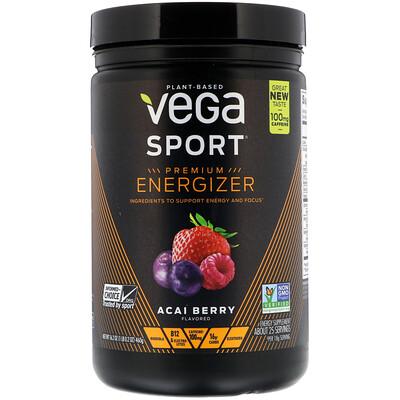 Vega Sport, Premium Energizer, Acai Berry, 16.2 oz (460 g)
