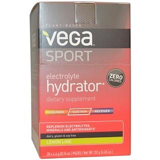 Vega, Sport, Hidratador con Electrolitas, Lima Limón, 30 Paquetes, 0.15 oz (4.4 g) Cada Uno