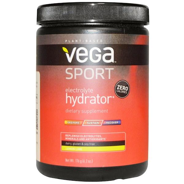 Vega, スポーツ、 エレクトロライトハイドレーター、 レモンライム、 6.2オンス (176 g) (Discontinued Item)