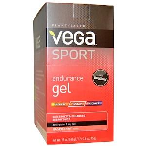 Вега, Sport, Endurance Gel, Raspberry Flavor, 12 Packets, 1.6 oz (45 g) Each отзывы