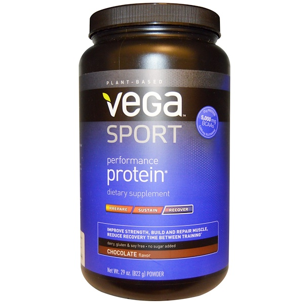 Vega, Sport, Performance Protein, Recover, Powder, Chocolate, 29 oz (822 g) (Discontinued Item)