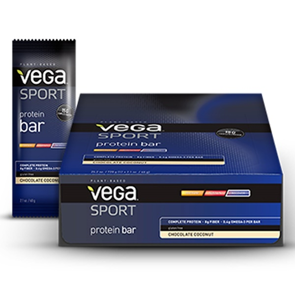 Vega, Sport, Protein Bar, Chocolate Coconut, 12 Bars, 2.1 oz (60 g) Each (Discontinued Item)