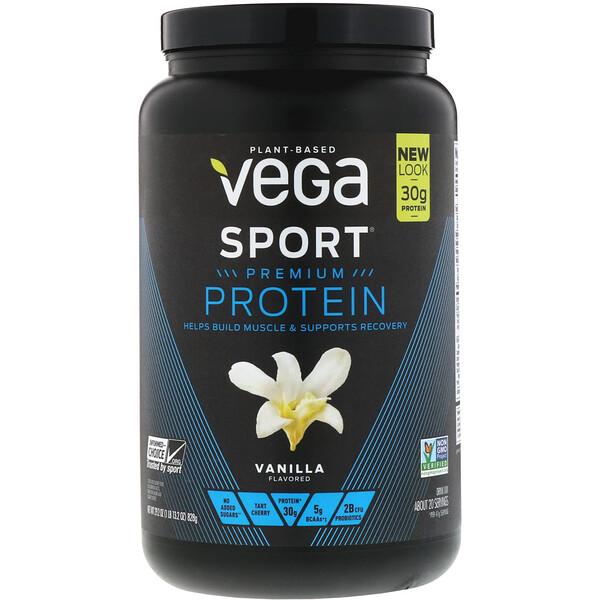 Sport, Premium Protein, Vanilla, 29.2 oz (828 g)