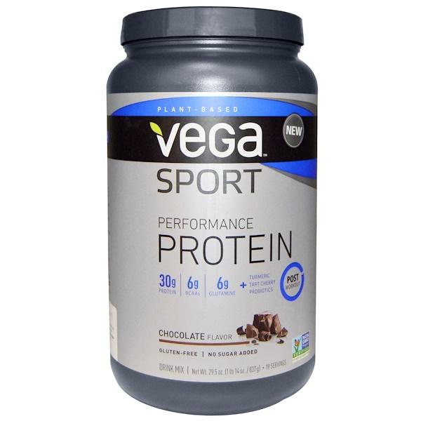 Vega, Sport Performance протеин, шоколад, 29,5 унций (837 г) (Discontinued Item)