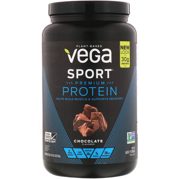 Vega, Протеин премиального качества Sport, шоколад, 29,5 унц. (837 г) (Discontinued Item)