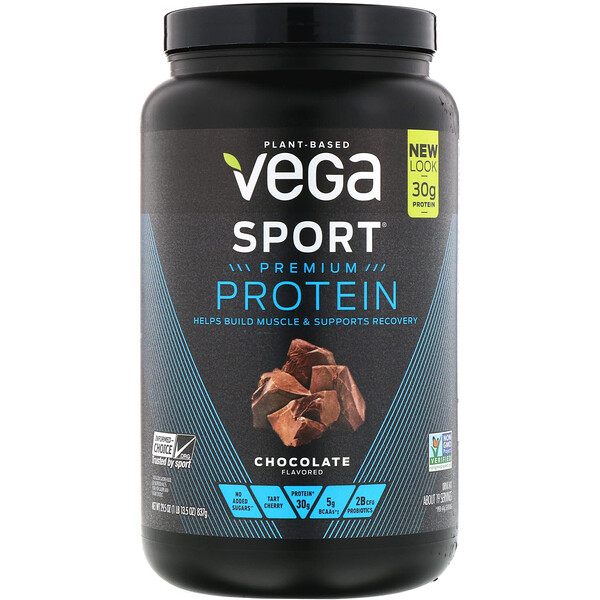 Vega, Sport, Premium Protein, Chocolate, 29.5 oz (837 g)