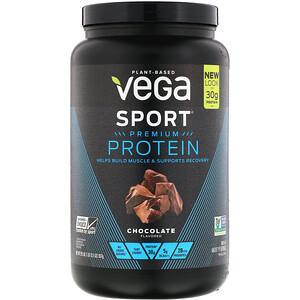 Vega, Протеин премиального качества Sport, шоколад, 29,5 унц. (837 г)