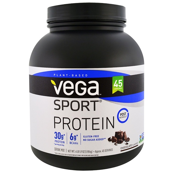 Vega, Sport Protein, Chocolate Flavored, 4 lb 5.9 oz (1.98 kg)