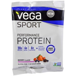 Vega, Sport, Performance Protein Drink Mix, Berry Flavor, 1.5 oz (42 g)
