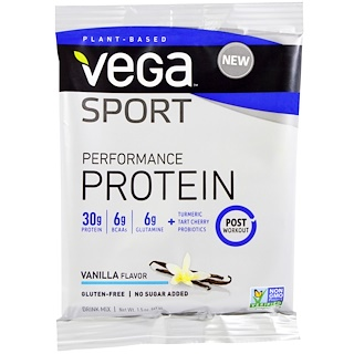 Vega, Sport, Performance Protein Drink Mix, Vanilla Flavor, 1.5 oz (41 g)