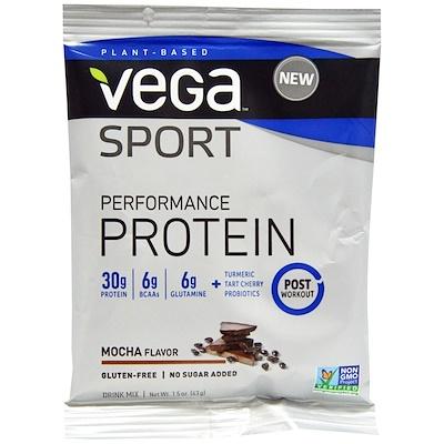 Vega Sport Performance Protein, Mocha, 1.5 oz (43 g)
