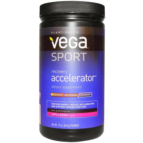 Vega, スポーツ、 リカバリーアクセラレーター、 パウダー、 アップルベリー、 19オンス (540 g)
