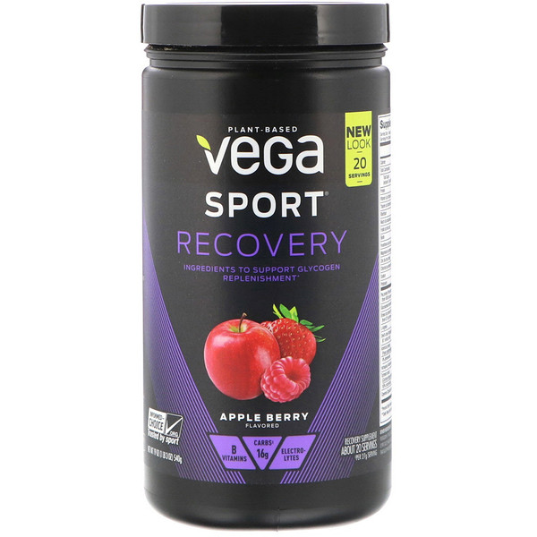 Vega, Sport, Recovery, Apple Berry, 1.2 lbs (540 g)