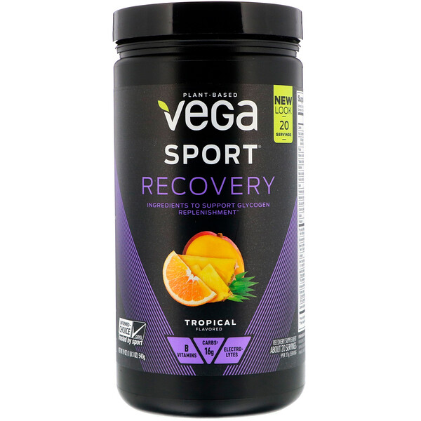 Sport, Recovery, Tropical, 19 oz (540 g)