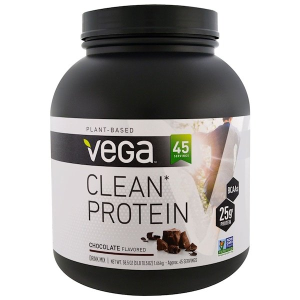 Vega, Clean Protein, Chocolate Flavor, 58.5 oz (1.66 g) (Discontinued Item)