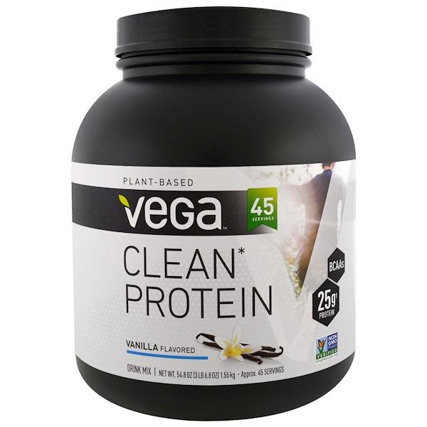 Vega, クリーンプロテイン, バニラ, 54.8 oz (1.55 kg) (Discontinued Item)