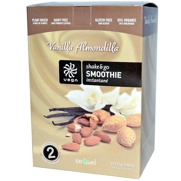 Vega, Shake & Go Smoothie, Vanilla Almondilla, 12 Pouches, 0.88 oz (25 g) Each (Discontinued Item)