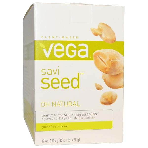 Vega, SaviSeed, Oh Natural, 12 Packs, 1 oz (28 g) Each (Discontinued Item)