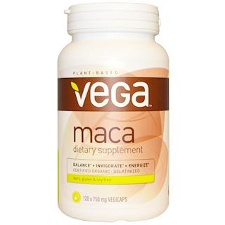 Vega, Maca, 750 mg, 120 Veggie Caps