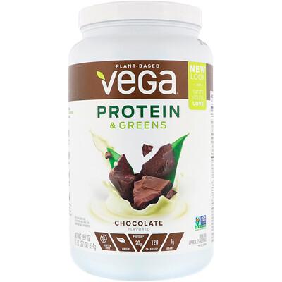 Купить Vega Белок и зелень, со вкусом шоколада, 814г (1, 8фунта)