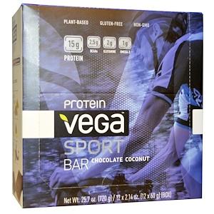 Вега, Sport Protein Bar, Chocolate Coconut, 12 Bars, 2.14 oz (60 g) Each отзывы