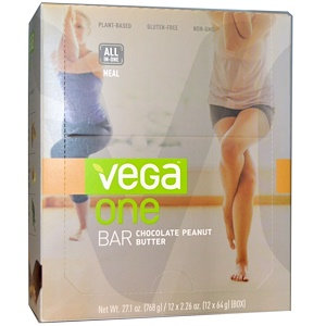 Вега, One Bar, Chocolate Peanut Butter, 12 Bars, 2.26 oz (64 g) Each отзывы