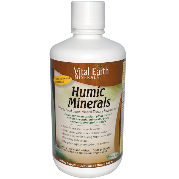Vital Earth Minerals, Humic Minerals礦物質,32液量盎司(946毫升)