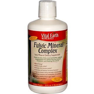 Vital Earth Minerals, Fulvic Mineral Complex, Ionic Mineral Dietary Supplement, 32 fl oz (946 ml)