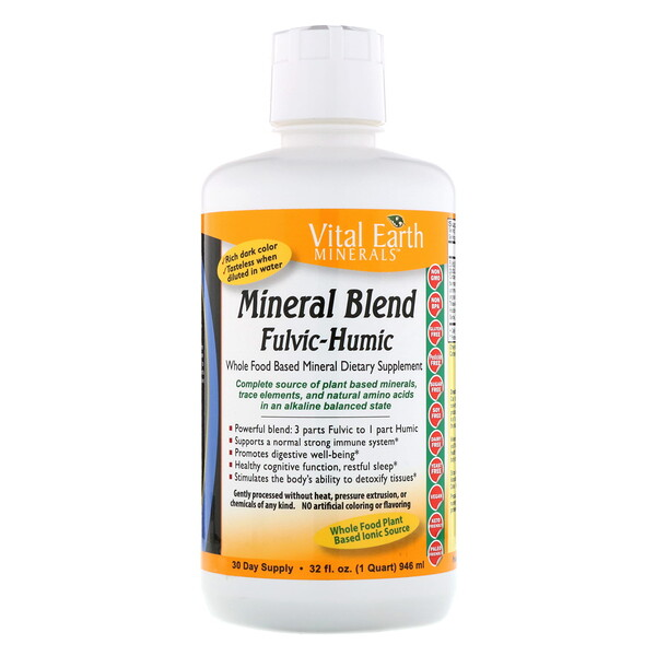 Vital Earth Minerals, Mineral Blend Fulvic-Humic, 32 fl oz (946 ml)