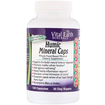 Купить Vital Earth Minerals Гуминовые минеральные капсулы, 120 капсул