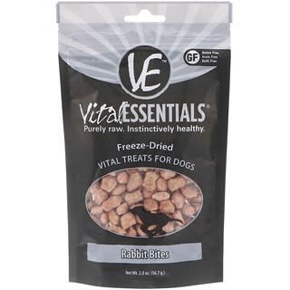 Vital Essentials, Gefriergetrocknete Leckereien für Hunde, Kaninchenstücke, 56,7 g